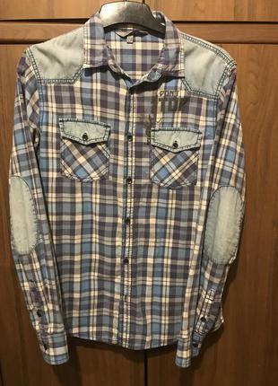 Фирменная модная рубашка на подростка р 150-160