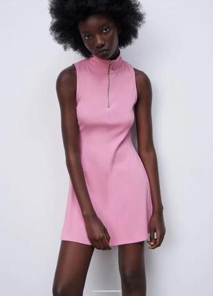 Платье, платье в рубчик с молнией, платье летнее без рукавов, сукня, плаття, платье лапша