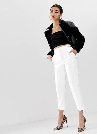 Сток новые штаны белые молочные  брюки river island uk 12