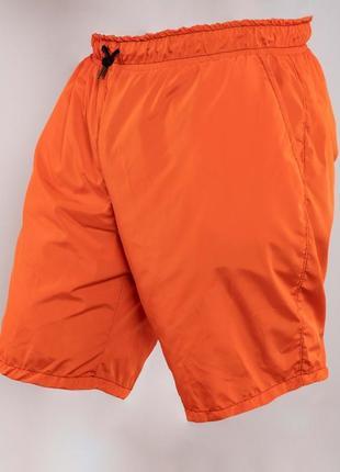 Шорты пляжные  оранжевые плащёвка баталы