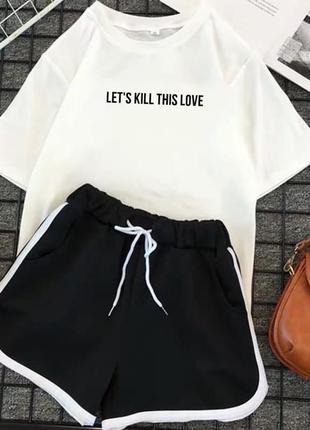 Распродажа костюм шорты и футболка