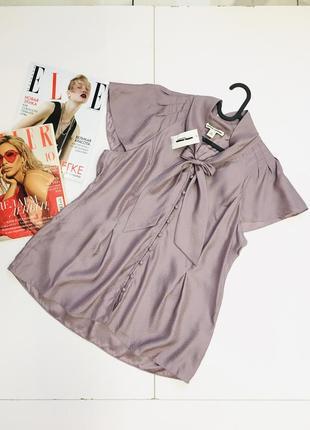 Новая натуральная блуза из шелка с бантиком от banana republic