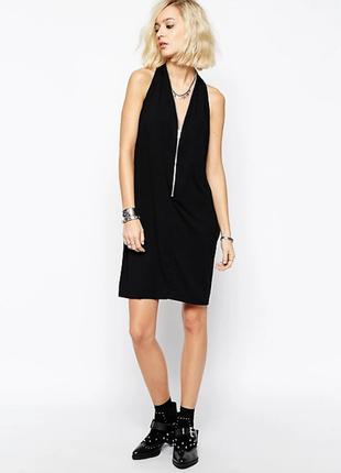 Оригинальное платье с молнией от religion панк рок стиль готика бренд субкультура