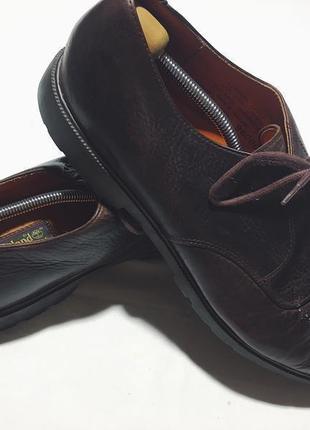 Мужские кожаные туфли timberland ( тимберланд 47.5рр 32см идеал оригинал коричневые)
