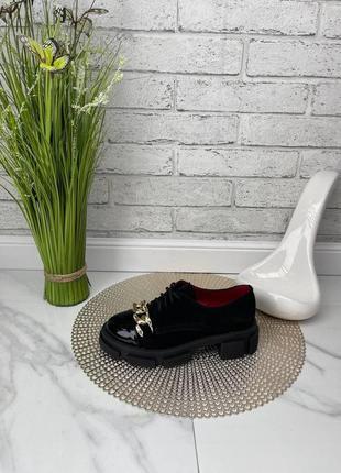 Туфли лоферы женские черные замшевые на толстой высокой подошве платформе из натуральной замши замша