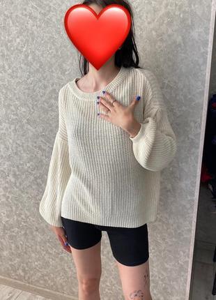 Свитер оверсайз вязаный свитер