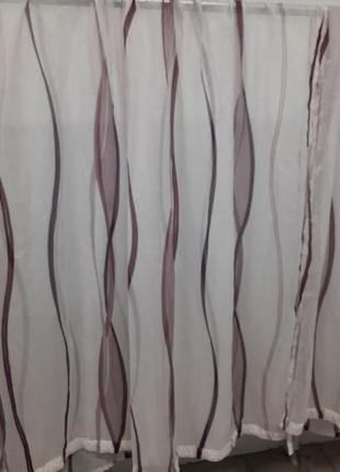 Тюль шторы 2 штуки 145×245 см