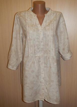 Льняная блуза bonmarche p.16 лён хлопок
