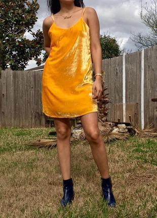 Zara велюровое бархатное платье  комбинация сарафан в бельевом стиле