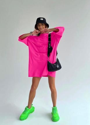 Платье-футболка oversize 👍тренд сезона👍 4 цвета