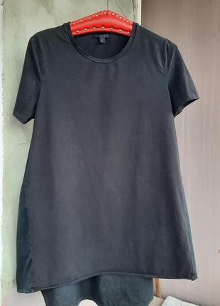 Шикарная футболка из комбинированной ткани cos
