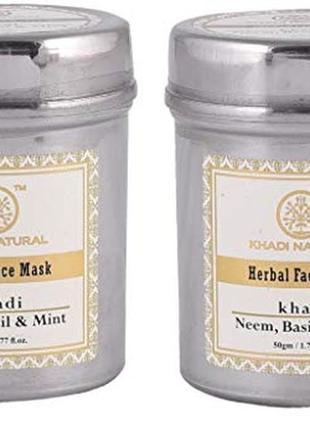Маска для лица натуральная neem, basil & mint от khadi