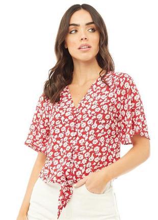 Модная блуза с завязками