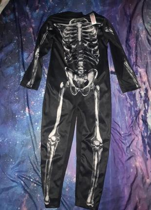 Карнавальный костюм комбинезон скелет на хеллоуин