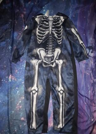 Детский карнавальный комбинезон скелет хеллоуин