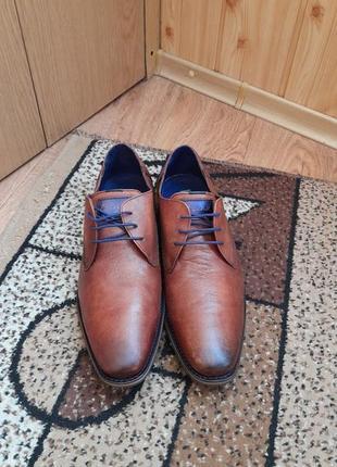 Чоловічі шкіряні туфлі braend.