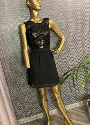 Суперское платье пайетки сетка кружево от mango, zara, london!