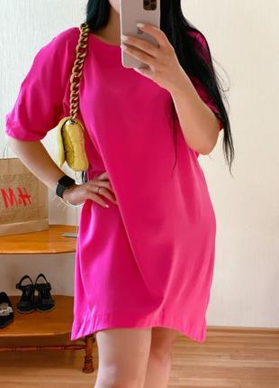 Платье oversized цвет фуксия