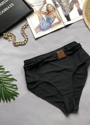 Чёрные высокие плавки с пряжкой wolf and whistle размер: 14(xl)