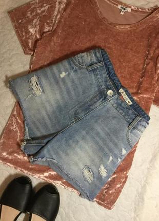 Шорты джинсовые с потёртостями falmer heritage размер 12