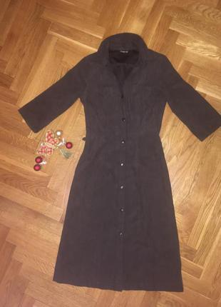 Элегантное платье искусственный замш