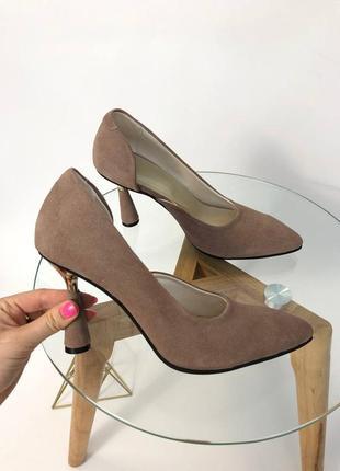 Шикарные туфли лодочки 👠 натуральная замша кожа италия