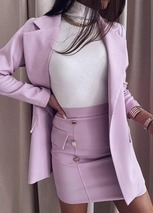 Стильный костюм 2ка( пиджак + юбка)