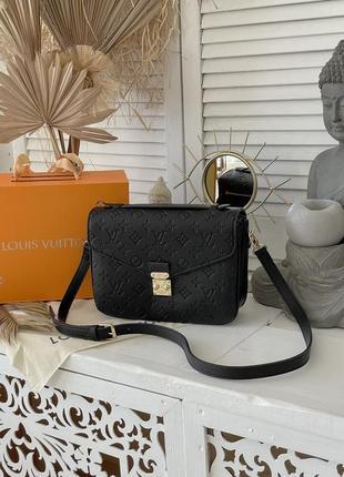 ❤ женская черная кожаная сумка сумочка ❤