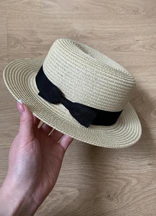 Распродажа! стильная соломенная шляпа канотье