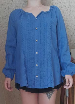 Лляная рубашка женская, блузка из льна