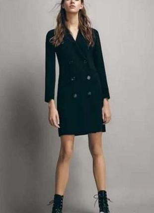 Ідеальне чорне плаття піджак від massimo dutti 🖤