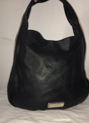 Marc jacobs шикарная стильная сумка из натуральной кожи
