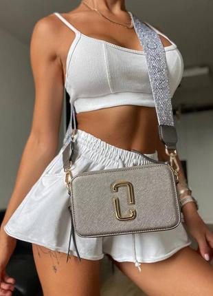 ❤ женская серебристая сумка сумочка  marc jacobs silver ll ❤