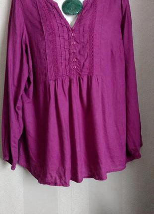 Блуза бохо лен
