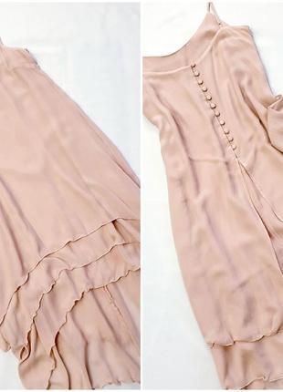 H&m многослойное платье комбинация из натурального шелка шовк