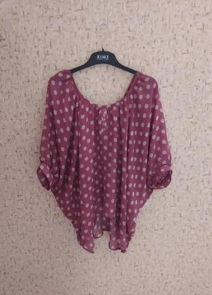 Штфоновая блузка, блуза, женская летняя рубашка