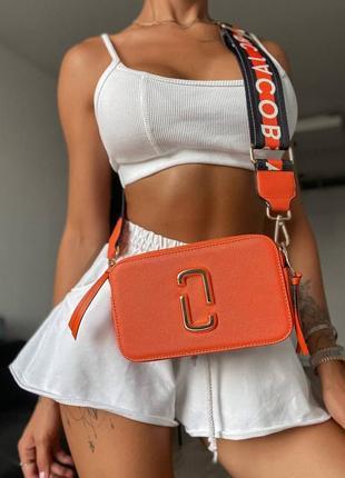 ❤ женская оранжевая сумка сумочка  marc jacobs orange ll ❤