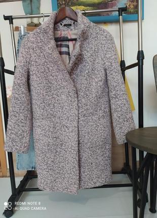Шикарное пальто шерсть модель кокон оверсайз