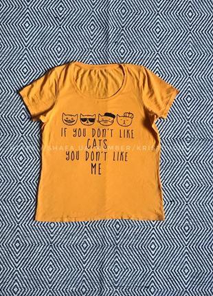 Яркая жёлтая футболка размер м-л