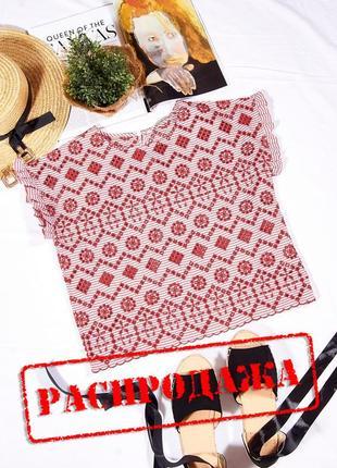 Летняя блузка стойкая, женская блузка красная, стильная блузка с коротким рукавом