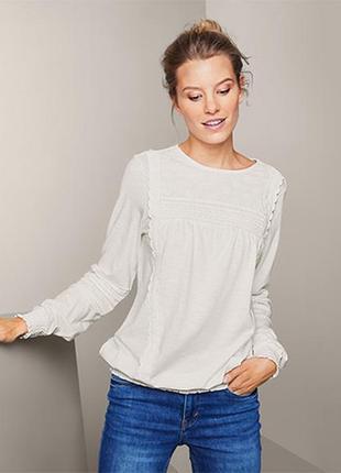 ☘ шикарна та яскісна біла блуза в офісному стилі від tchibo (німеччина), р.: 50-52 (44/46 евро)