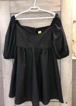 Платье рукава буфы baby doll