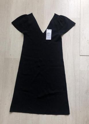 Платье новое mango s xs чёрное как у zara