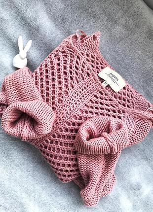 Удлиненное платье свитер papaya