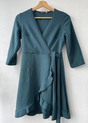 Сукня темно бірюзового кольору на мініатюрну дівчину