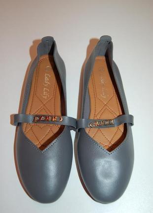 Классические новые серые балетки, туфли на низком ходу, туфли-лодочки