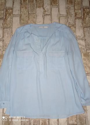 Блуза рубашка сорочка ніжно  блакитного кольору