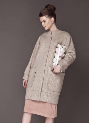Шикарное зимнее шерстяное пальто анна яковенко