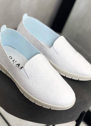 Рр 38-41.белые кроссовки кеды мокасины