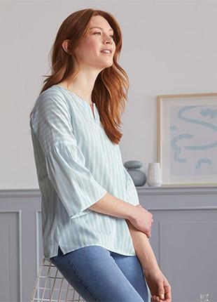 ☘ стильна блузка-туніка в смужку з рукавами 3/4 від tchibo (німеччина), р.: 50-52 (44 евро)